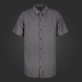 Short Sleeve Woven Button Up