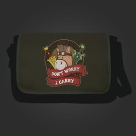 Don't Worry I Carry Messenger Flap